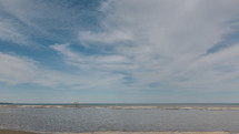 ocean washing onto  Bluffer's Park Beach