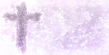 lavender cross on white