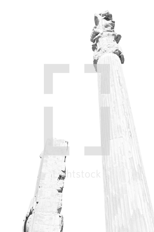 columns in Ruins in Iran