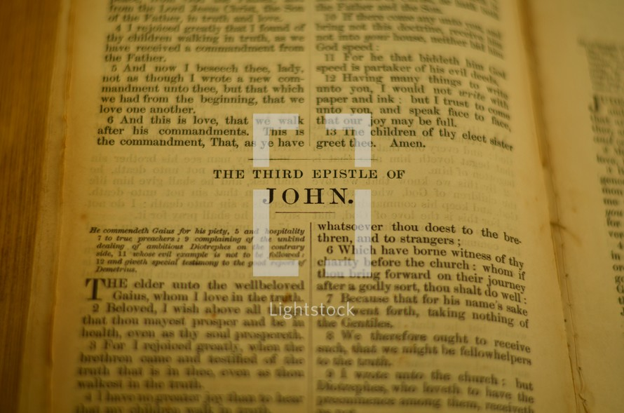 The 3rd Epistle of John