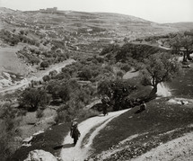 Hinnom Valley from the west.