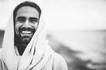 Jesus smiling