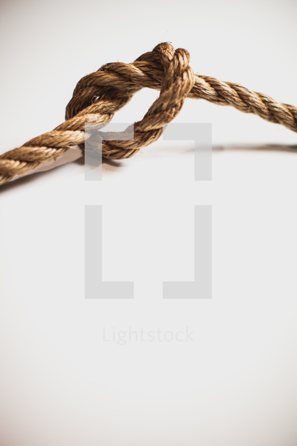 Knot in a rope.