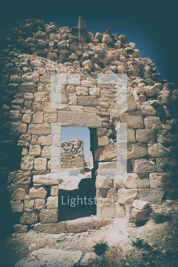 ruins of fortress walls