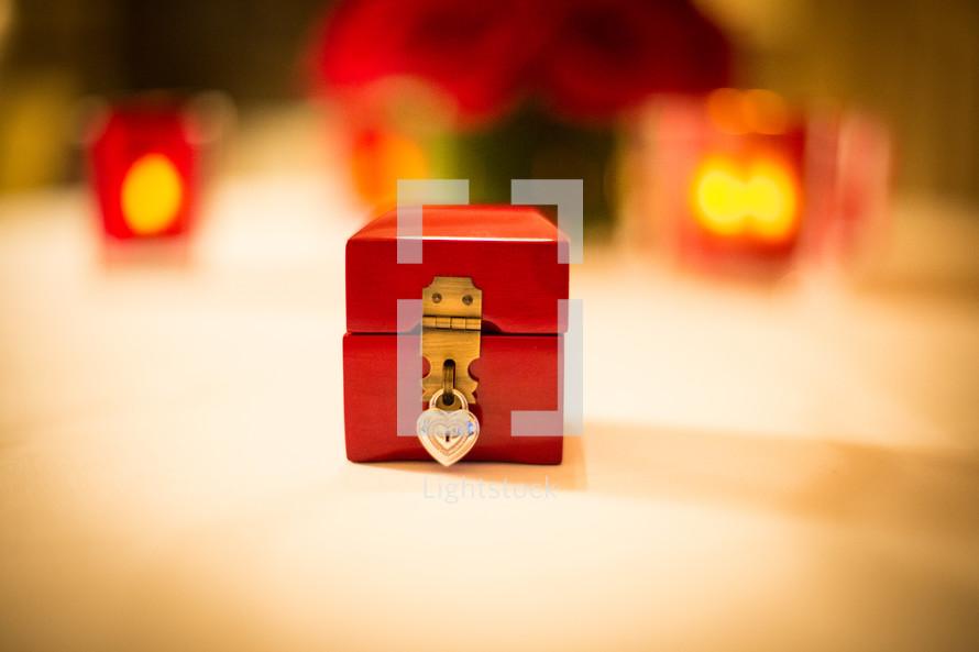 a small locked box
