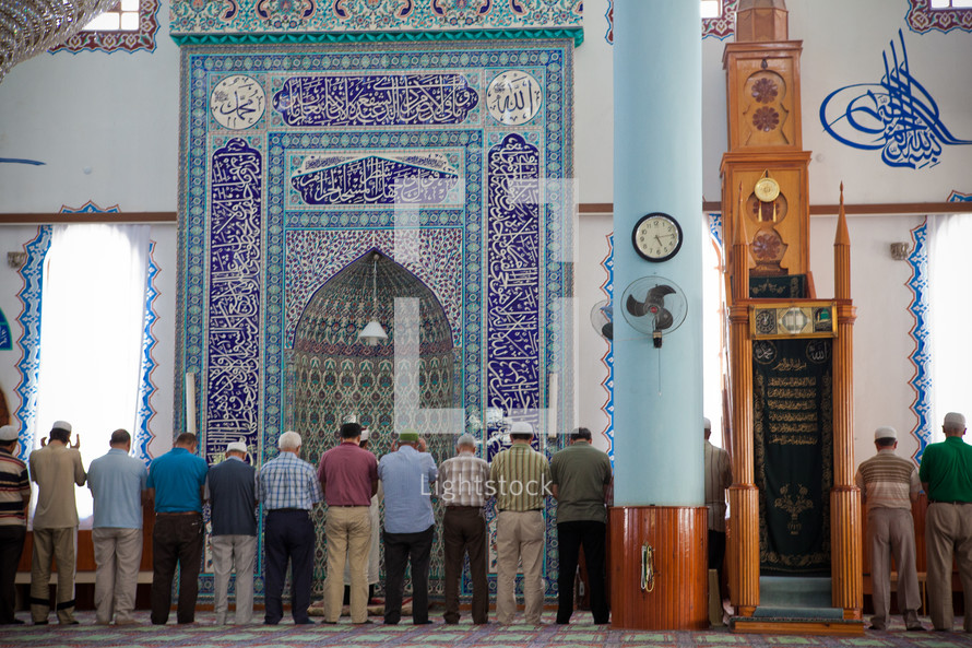 Muslim men in temple