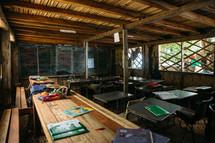 a one room school in Matiu Village