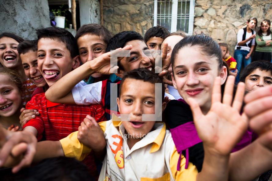 Kurdish village kids, Muslim kids, southeastern Turkey