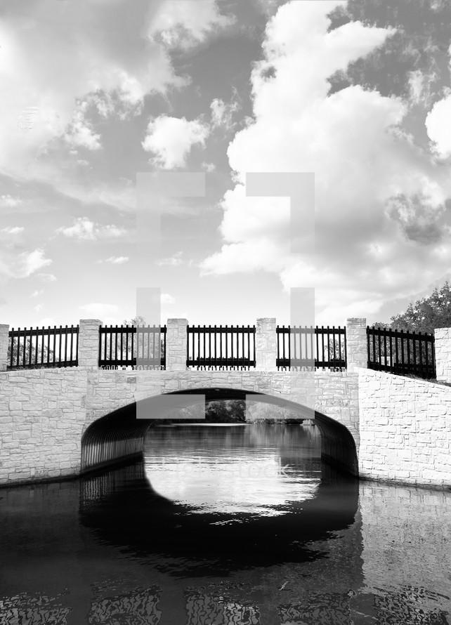 A stone bridge over a creek