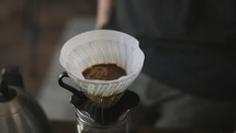 coffee shop pour over