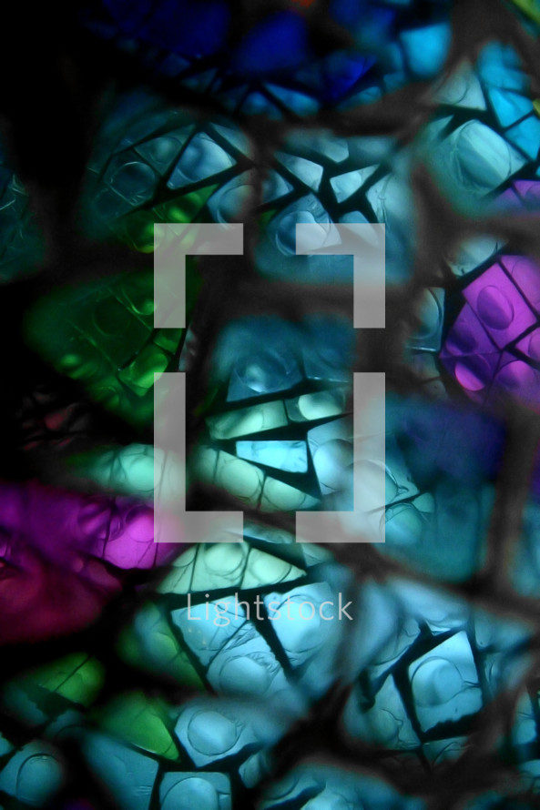 abstract Stained Glass montage