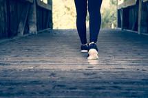 Stepping forward, getting ready to run