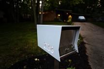 modern mailbox