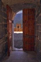 the castle inside the door