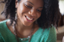 An African American woman smiling