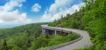 Blue Ridge Parkway in the summer