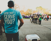 How May I Serve You? T-shirt
