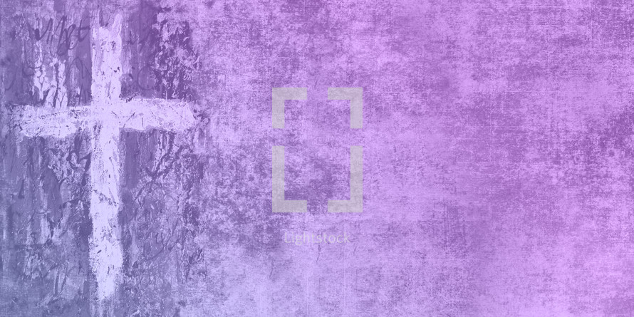 blue plum textured cross and grunge slide backdrop
