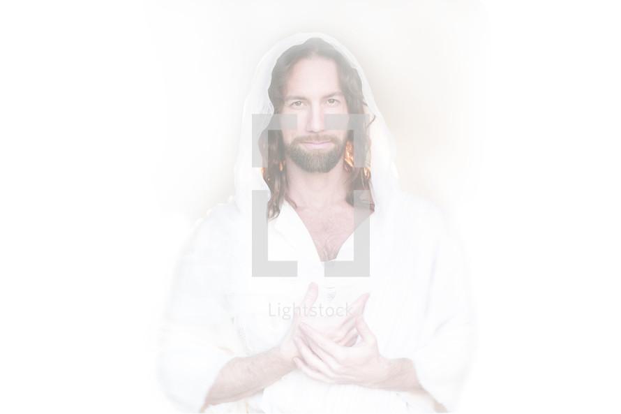 Inviting hands of Jesus