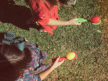 Easter egg and spoon race