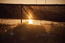 sunlight on a sunshade