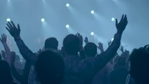 raised hands in worship