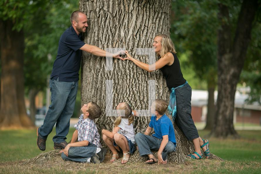 family photo outdoors
