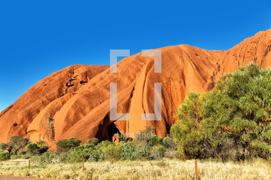 red rock peaks in the outback