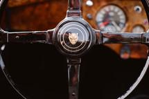 vintage Jaguar steering wheel