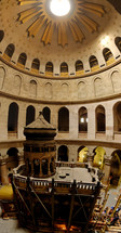 A panorama of the Holy Sepulcher edicule.