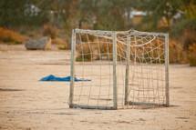 rustic soccer goal