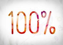 percentage, 100%