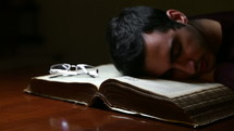 Sleeping during study
