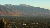 mountain birds and Utah town