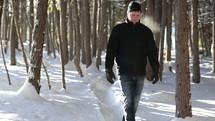 walking a path in snow