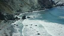 waves washing onto a shore