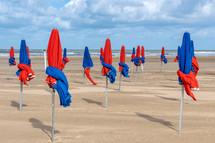 beach umbrellas on a beach