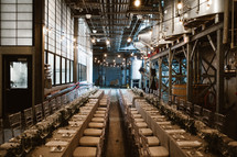 set tables for a wedding reception