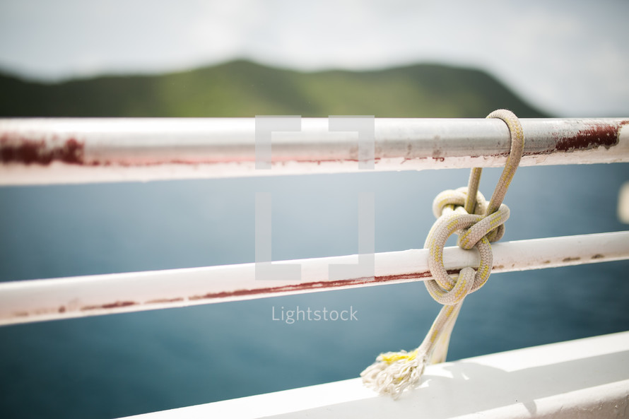 knot on a railing