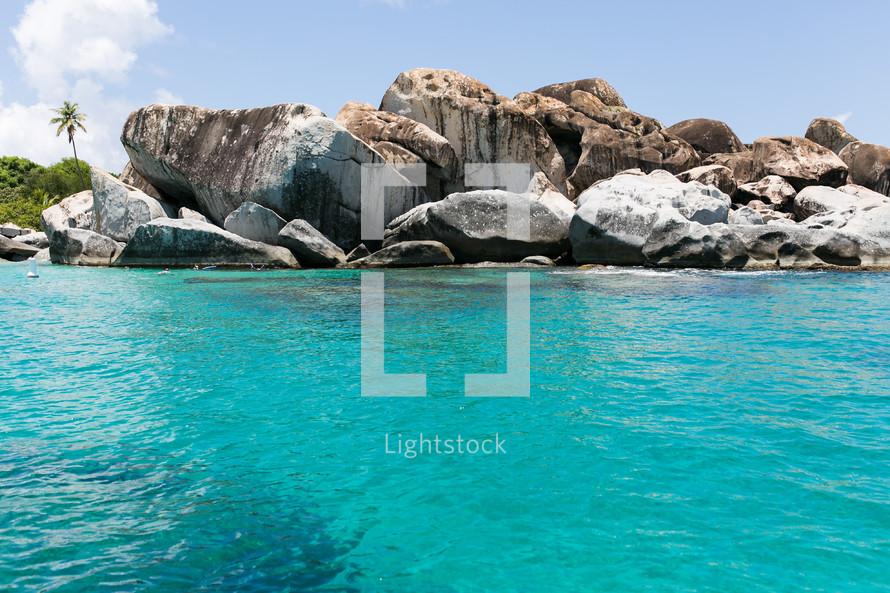 rocky tropical shore