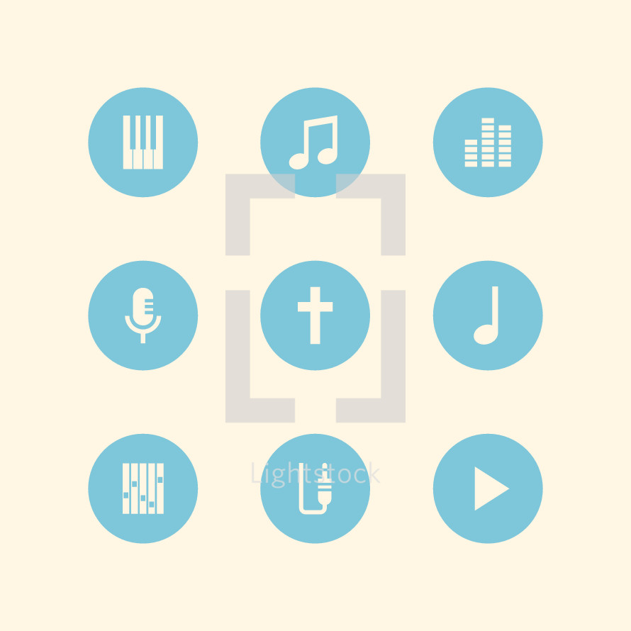 worship music icons.