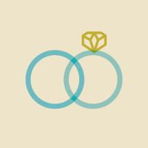 wedding band and ring illustration.