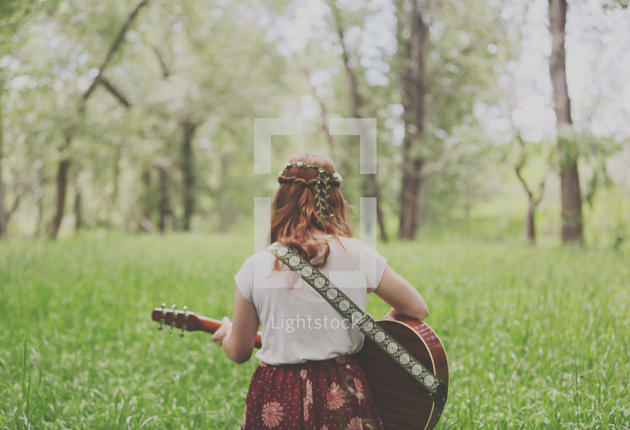 playing and singing out in nature