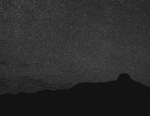 stars in a night sky