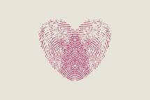 fingerprint heart pink
