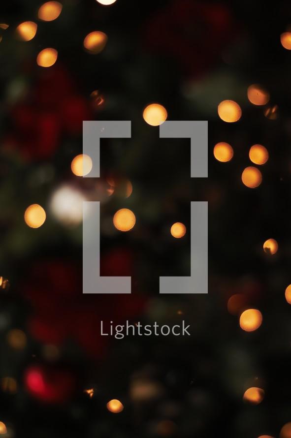 A dark Christmas bokeh background