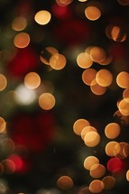 A dark Christmas bokeh background