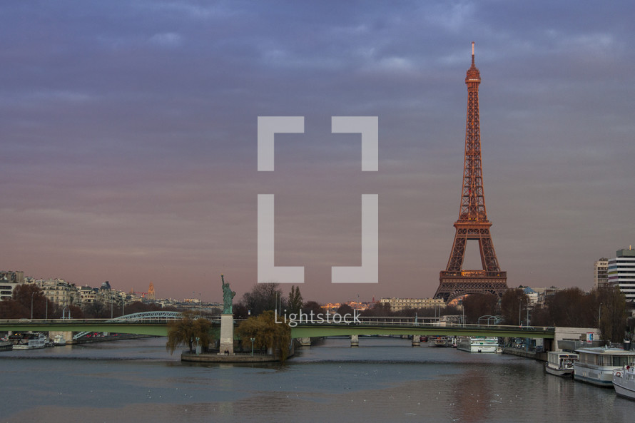 The Eiffel Tower from Javel