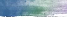 navy, green, purple watercolor line border
