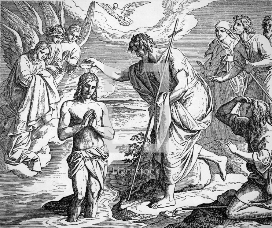The Baptism of Jesus, Matthew 3:13-17